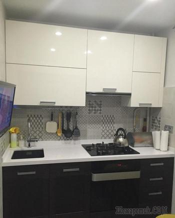 Кухня 6 квадратных метров с захватом коридора
