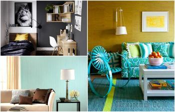 Однотонные обои и их сочетание с мебелью: 18 выигрышных идей для создания нескучного интерьера