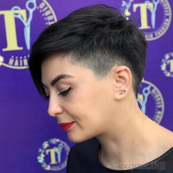 17 модных стрижек для леди старше 50 лет на редкие волосы 2021