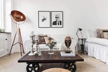 Шведская квартира 27 кв.м. с кухней-прихожей и просторной гостиной