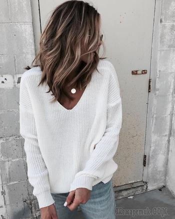 25 примеров с чем носить белый джемпер, чтобы придать облику женственности