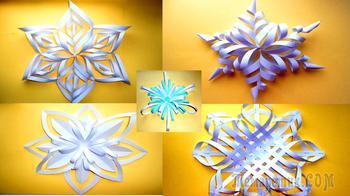 ТОП 5: Лучшие снежинки из бумаги на Новый год 2021 своими руками
