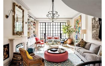 Великолепная двухуровневая квартира в Нью-Йорке