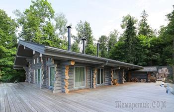 Деревянный гостевой дом в Подмосковье площадью 140 м2.