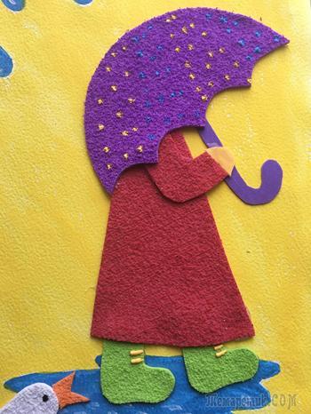 Аппликация для детей из фоамирана+Шаблон