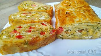 Завтрак на сковороде из лаваша и сыра. Готовлю только так уже третий день!