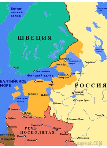 Россия купила Прибалтику за 2 млн. рублей у Швеции в 1721 году