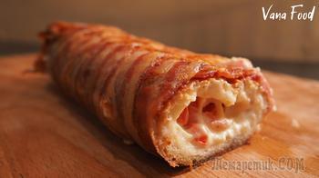 Багет с сыром в беконе
