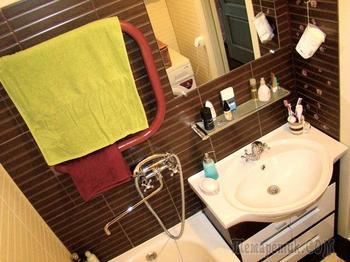 Ванная комната: все работы выполнил сын, причем ремонт делал впервые