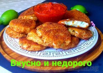 Картофельные биточки с томатно чесночным соусом.  Вкусно и недорого