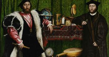Вы точно не догадаетесь, что это: одна из первых оптических иллюзий, спрятанная в картине 1533 года