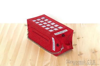 Шьем сумку «Тelephone box» из фетра своими руками