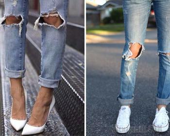 Как сделать рваные джинсы — полезные советы