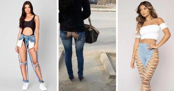 Безумно креативные  джинсы?