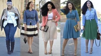Как одеваться полным женщинам