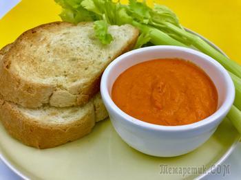 Диетический соус из запеченного болгарского перца