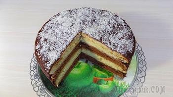 Бисквитный слоеный торт со сметанным кремом