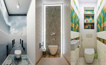 20 шикарных примеров того, как визуально увеличить маленький туалет