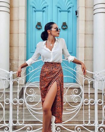 Стильные юбки с принтом