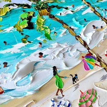Летние пляжи в масляных картинах Алёны Шимчонак