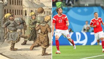 Как от века к веку менялась одежда футболистов: От туник и лаптей к цилиндрам и футболкам от кутюр
