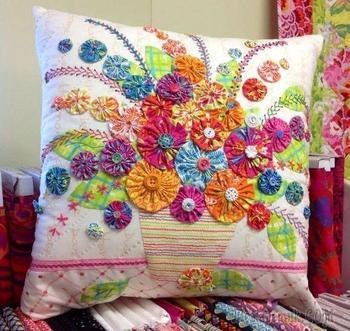 Цветы йо-йошки для шторок и другие интересные идеи применения