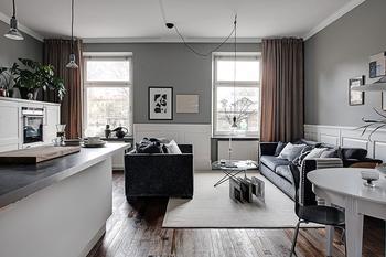 Стильная и уютная квартира музыканта в Стокгольме (55 кв. м)