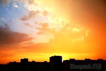 И снова красен над землей закат..