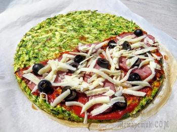 Пицца на кабачковом тесте без грамма муки