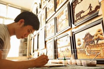 Рисовые картины вьетнамских мастеров