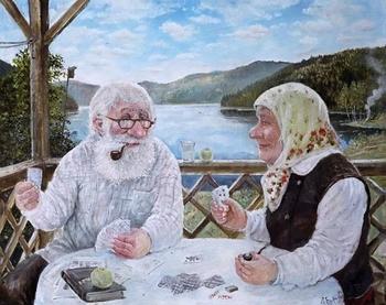 Деревенские старички в душевных картинах уральского художника Леонида Баранова