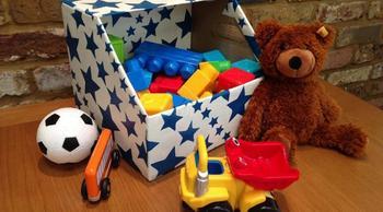 Ящики для игрушек из картона