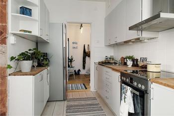 Как обустроить двухрядную кухню-камбуз