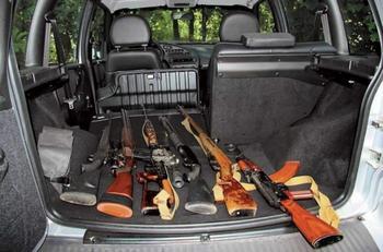 Перевозка охотничьих и спортивных ружей в автомобиле
