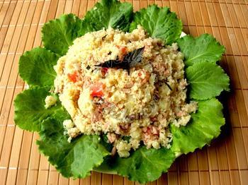 Салат из кус-куса с тунцом и овощами! Необычно и очень вкусно!