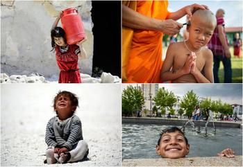 Очень непохожее детство в разных странах мира