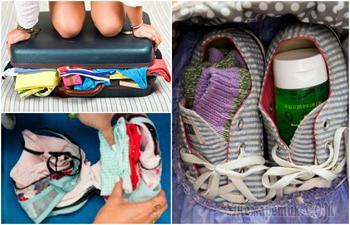 11 спасительных приемов, которые точно позволят сделать так, чтобы чемодан застегнулся