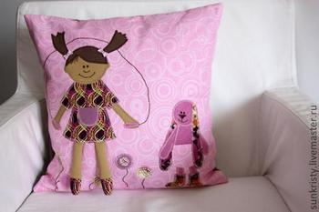 Шьем декоративную наволочку в детскую комнату