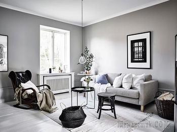 Атмосфера загородного дома в шведском таунхаусе