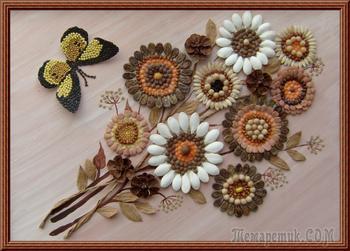 Картины из семян и злаков