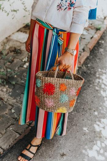 Яркая плетёная сумочка своими руками