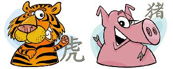 Свинья и Тигр: совместимость в браке и любви