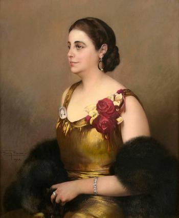Сама женственность. Firmin Baes (Belgian,1874-1943)
