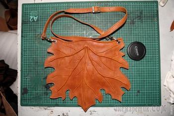 """Мастер класс по изготовлению женской сумки """"Кленовый лист"""""""