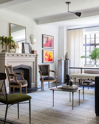 Благородство и ирония: интересная квартира на Манхэттене