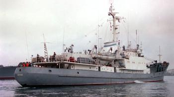 """Российское разведывательное судно """"нечаянно"""" врезалось в турецкий сухогруз"""
