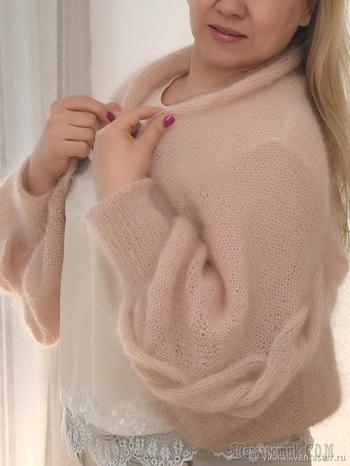 Вяжем шаль-рукава — модный и эффектный аксессуар
