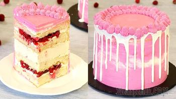 Торт-мусс Малина-Мед