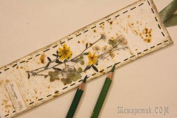 Делаем закладку-гербарий «Мгновения»