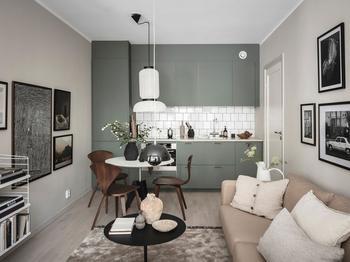 В тесноте, да не в обиде: стильная квартира в Швеции